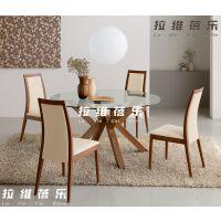 现代简约餐桌 时尚餐桌 时尚家具 钢化玻璃桌面 餐桌可拆装可定做