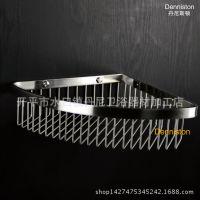 304不锈钢三角挂篮浴室转角架拉丝网篮置物架 厂家批发卫浴挂件