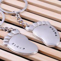 韩国礼品刻字送女朋友个性脚丫情侣钥匙扣可爱情侣挂件脚丫钥匙扣