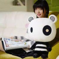 呆萌大小眼熊猫公仔卡通形象毛绒玩具布娃娃儿童玩偶