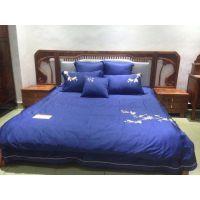 名琢世家刺猬紫檀新中式大床价格图片