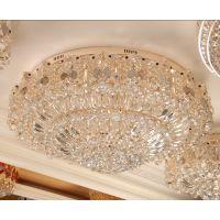 现代时尚家装客厅餐厅圆形水晶灯聚宝盆卧室LED吸顶灯灯具灯饰