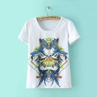 2015春夏女装专柜正品商场同款绚丽多彩镜像印花图案T恤