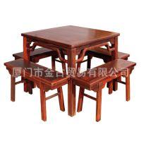 红木四方桌 八仙桌  餐桌 桌子 红木家具实木 金古红木 餐厅