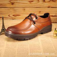 男士休闲鞋 商务皮鞋冬季男鞋英伦正品真皮低帮鞋 鞋子男贴牌加工