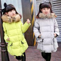 2015正品专柜时尚韩版儿童羽绒服女童羽绒服中长款加厚童装