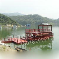 河南木船厂家直销电动餐饮船水上旅游船景区观光船服务类船
