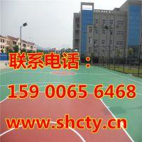 尚春供应宁波塑胶篮球场施工