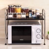 不锈钢厨房微波炉置物架烤箱架储物架调味调料架收纳用品落地层架