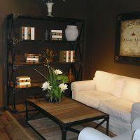 新款美式家具铁艺置物架 复古式做旧实木书架 隔板 储物架 收纳架