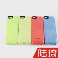 苹果手机iphone5c 彩色带电量显示灯移动背夹电池