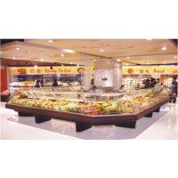 供应海尔开利冷藏熟食柜、圆弧柜、服务式陈列柜、弧形玻璃、存放鲜鱼精肉
