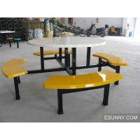 10个人坐的圆桌子圆餐桌椅组合 餐椅 圆餐桌椅组合批发 玻璃钢餐桌椅厂家东莞