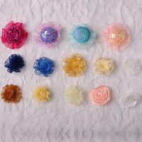 现货直销纯手工雪纱织带花 童装服装辅料饰品配件小花免费拿样