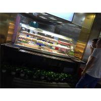 佳伯定做川西坝子火锅展示柜保鲜柜菜品自选点菜柜立式前后开放式带喷雾功能