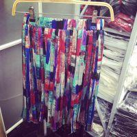 小银子2015夏装新款缤纷色彩度假风松紧腰飘逸雪纺半身裙Q5131