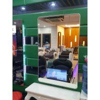 单机版美发镜台多功能电视镜子广告机汇博乐壁挂式定制镜