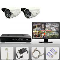 2路监控设备套装数字网络百万高清720P家用监视器材闭路电视频器