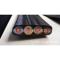 供应YBF扁平软电缆 行车YB-4*4mm 电缆线 扁平硅橡胶软电缆