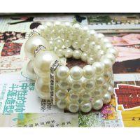 【厂家直销】串珠手链 珍珠饰品串珠水晶珍珠手链 新娘珠宝手镯