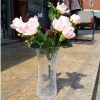 摆饰特大号40厘米高裂纹玻璃纸盒包装普通玻璃花瓶产地货源火拼