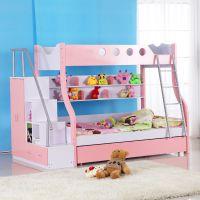 引航家具供应儿童高低上下床子母床双层学生板式高低床儿童卧室家具