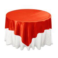 室内外宴会专用桌布 酒店餐厅涤纶缎面高档大红色台布 定做批发