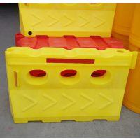 交通水马批发厂家 施工隔离滚塑水马 滚塑防撞桶 滚塑隔离墩 船型防撞墩