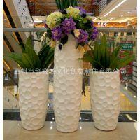 厂家专业生产玻璃钢花盆组合 玻璃钢花盆商场商业园林景观花盆