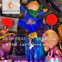 模型专家【上海升美】马戏团动物玻璃钢雕塑长颈鹿大象雕塑狮子模型定做