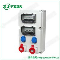 高端室外工业插座箱 4回路配电箱 铁路检测移动箱