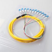 飞锐LC12芯束状尾纤 电信级小方头LC束状尾纤