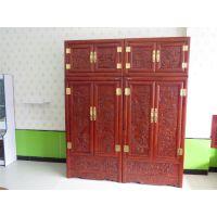 顶箱柜明清仿古中式衣柜北方榆木雕花大衣柜衣橱实木衣柜
