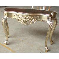 和业 玻璃钢定制 贴金茶几 黄金桌 玻璃钢欧式桌
