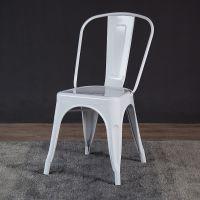 复古做旧工业简约铁艺餐厅咖啡厅金属餐椅 休闲靠背铁皮凳铁椅子