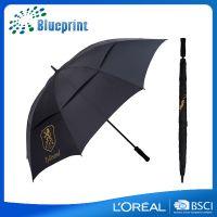 深圳雨伞厂家上下双层手动开收高档汽车长柄伞超大三人纤维高尔夫伞定做logo