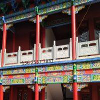 寺庙古建青石栏杆|石材雕花防护栏