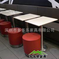 厂家快餐桌椅组合 西餐厅板式餐桌椅