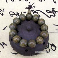 绿檀手串圣檀木红紫黑檀香顺纹2.0手链男女士情侣佛珠