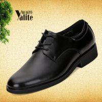 休闲男鞋新款系带供应男士皮鞋尖头层真皮日常黑色鞋子工作鞋