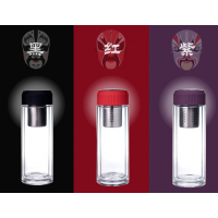 双层玻璃杯 办公水杯 车载玻璃杯定制 商务馈赠礼品杯定制 无锡玻璃水杯 定制企业LOGO