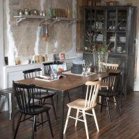 海德利热销订做 LOFT美式乡村 时尚 复古做旧餐桌椅