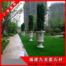 庭院造景石雕花钵|欧式盆栽花钵设计|园林景观绿化石雕摆件