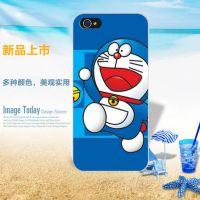 新款 叮当猫 iPhone 4S 5S 6 手机壳 PC保护套 彩绘外壳 厂家批发