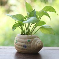 地中海风格陶瓷花盆花器 简约现代家居海螺工艺品摆件