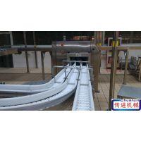 椰奶生产输送机,果奶生产链板输送机