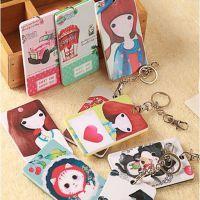 全网质量 亚克力日韩可爱女孩卡通卡包 便携式公交卡套批发