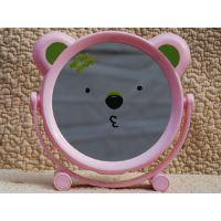 卡通镜可爱卡通镜子台式化妆镜折叠