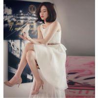 2015春夏新款韩国东大门代购韩版蕾丝蓬蓬背心裙连衣裙