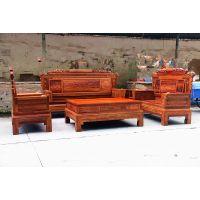 广东珠海刺猬紫檀客厅沙发厂家 成套组合沙发价格 盛世艺木居古典家具